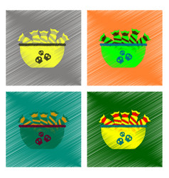 assembly flat shading style icon halloween candy vector image vector image