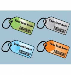 barcodes tags vector image vector image
