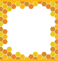 bee honeycomb pattern backgrounds vector image vector image