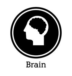 Brain design vector image