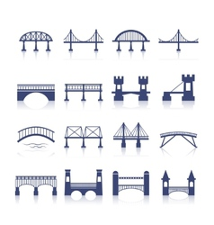 Bridge icons set vector