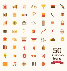 business icons signs vector image