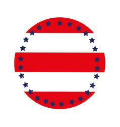 Circular emblem flag with stars vector