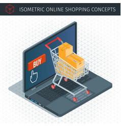 Concept about online shopping vector