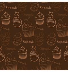 Cupcake seamless vector image vector image