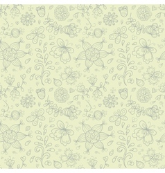 Doodle summer seamless pattern retro subdued vector