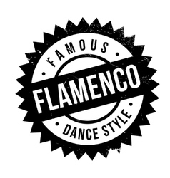 Famous dance style flamenco stamp vector image vector image