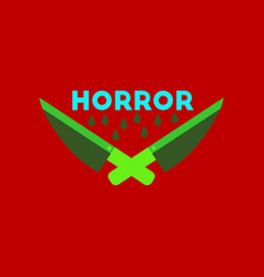 Flat icon on stylish background knives horror vector