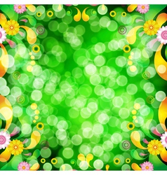 Floral background with bokeh defocused lights vector image vector image