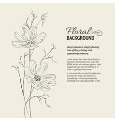 Flower over sepia background vector