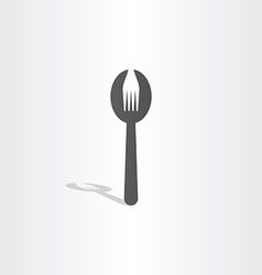 fork spoon icon design vector image