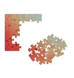 gradient field of puzzles with spots vector image vector image