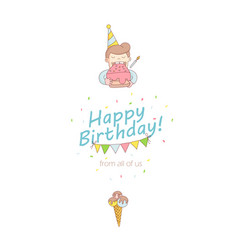 Happy birthday party greeting card invitation vector