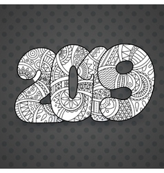 Happy New Year 2019 celebration number vector image
