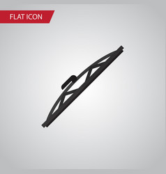 Isolated auto wiper flat icon windshield vector