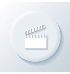 Movie 3d paper icon vector