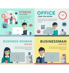 New job search and stress work infographic vector