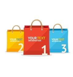 paper bag sale option banner Flat Design vector image