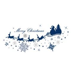 Reindeer santa claus vector image vector image