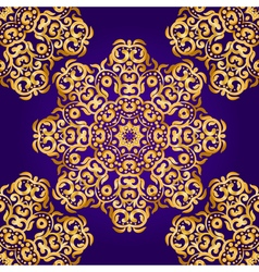 Rich gold seamless pattern in the Indian style vector image