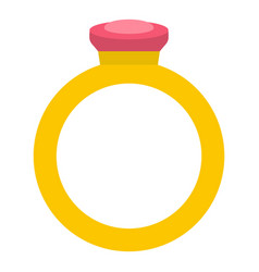 Ring icon isolated vector