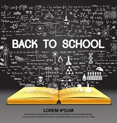 School and education background vector