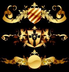 set of heraldic shields vector image vector image