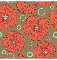 Spring old style floral seamless pattern vector image
