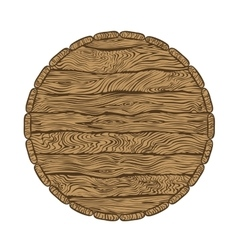 top of wooden barrel vector image vector image