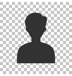 User avatar anonymous sign dark vector