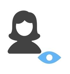 View female profile vector