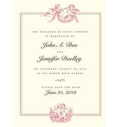wedding invite vector image