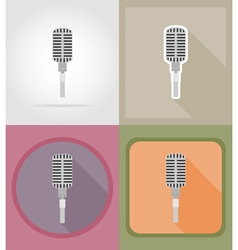 Music items and equipment flat icons 01 vector