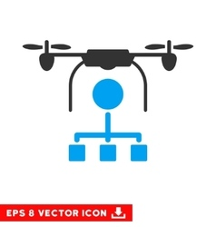 Drone distribution eps icon vector