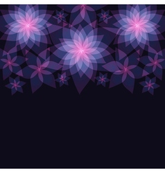 Dark abstract floral background with flowers vector image
