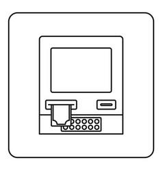 Atm bank cash machine icon outline vector