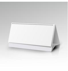 White blank paper desk spiral calendar spiral vector