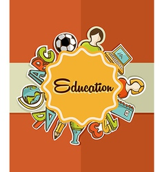 Education label back to school icons vector