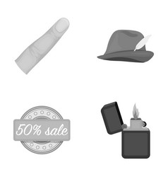 Trade textiles leisure and other monochrome icon vector