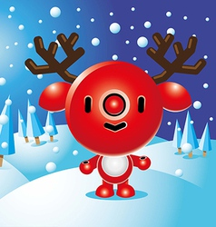 Rudolph Christmas Character vector image