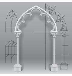 Gothic arch vector