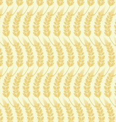 Seamless background of ears of grain vector