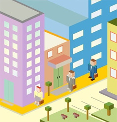 Working in the city vector