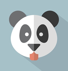 Modern flat design panda icon vector