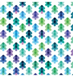 Seamless pattern from the stylized christmas trees vector