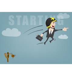 Business start vector