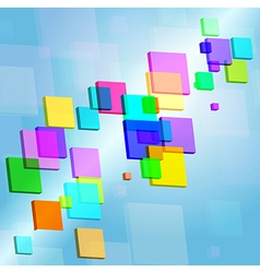 Abstract colored rectangles vector