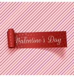 Valentines day realistic red festive tag vector