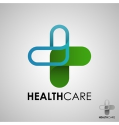 Medical pharmacy logo design template- vector
