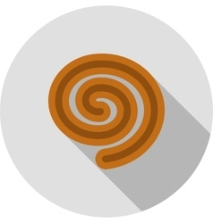 Rolled bun vector